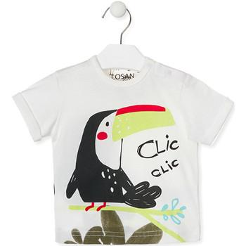 Textil Děti Trička s krátkým rukávem Losan 017-1012AL Bílý