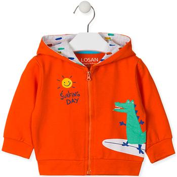 Textil Děti Mikiny Losan 017-6026AL Oranžový