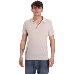 Textil Muži Polo s krátkými rukávy Gaudi 011BU53011 Béžový