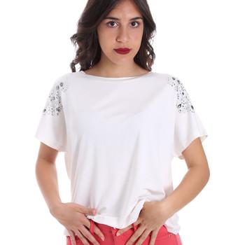 Textil Ženy Trička s krátkým rukávem Gaudi 011FD64022 Bílý
