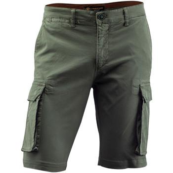 Textil Muži Kraťasy / Bermudy Lumberjack CM80747 002 602 Zelený