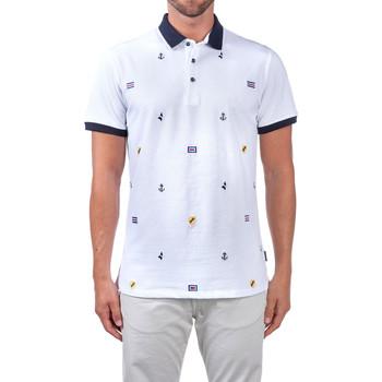 Textil Muži Polo s krátkými rukávy Navigare NV82120 Bílý