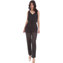 Textil Ženy Overaly / Kalhoty s laclem Gaudi 011FD25009 Černá