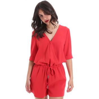 Textil Ženy Overaly / Kalhoty s laclem Gaudi 011BD25029 Červené