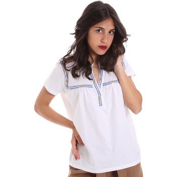 Textil Ženy Trička s krátkým rukávem Gaudi 011BD64015 Bílý