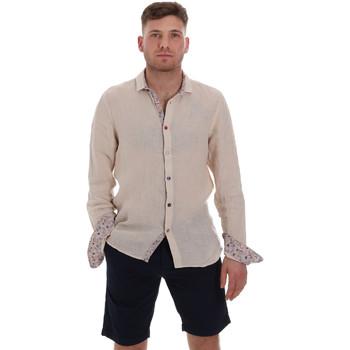Textil Muži Košile s dlouhymi rukávy Sseinse CE538SS Béžový