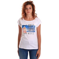 Textil Ženy Trička s krátkým rukávem Key Up 5D72S 0001 Bílý