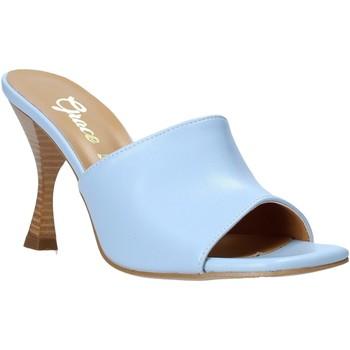Boty Ženy Dřeváky Grace Shoes 6293Y014 Modrý