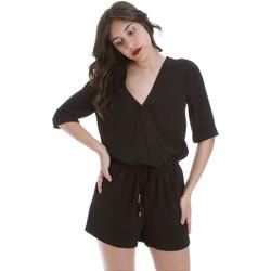 Textil Ženy Overaly / Kalhoty s laclem Gaudi 011BD25029 Černá