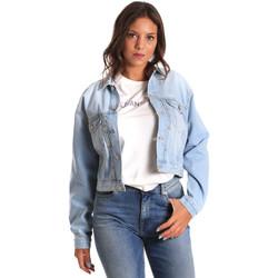 Textil Ženy Riflové bundy Pepe jeans PL401349 Modrý