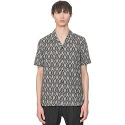 Textil Muži Košile s krátkými rukávy Antony Morato MMSS00156 FA430413 Béžový
