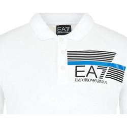 Textil Muži Polo s krátkými rukávy Ea7 Emporio Armani 3HPF17 PJ02Z Bílý