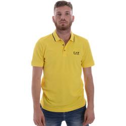 Textil Muži Polo s krátkými rukávy Ea7 Emporio Armani 8NPF06 PJ04Z Žlutá