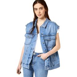Textil Ženy Riflové bundy Liu Jo FA0344 D4470 Modrý