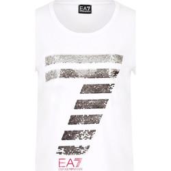 Textil Ženy Trička s krátkým rukávem Ea7 Emporio Armani 3HTT41 TJ12Z Bílý