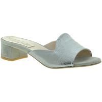 Boty Ženy Dřeváky Mally 6195 Stříbrný