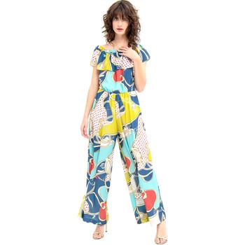 Textil Ženy Overaly / Kalhoty s laclem Fracomina FR20SM032 Modrý