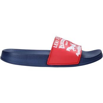 Boty Děti pantofle Levi's VPOL0037S Červené