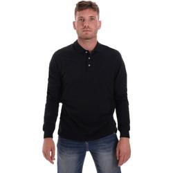 Textil Muži Polo s dlouhými rukávy Navigare NV82109 Modrý