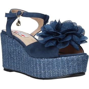 Boty Ženy Sandály Love To Love GIN579 Modrý