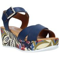 Boty Ženy Sandály Grace Shoes 12 Modrý