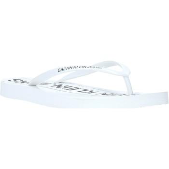 Boty Ženy Žabky Calvin Klein Jeans B4R0904 Bílý