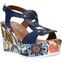 Boty Ženy Sandály Grace Shoes 09 Modrý