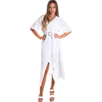 Textil Ženy Společenské šaty Fracomina FR20SM561 Bílý