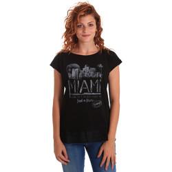 Textil Ženy Trička s krátkým rukávem Key Up 5Z10S 0001 Černá