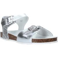 Boty Děti Sandály Grunland SB1500 Stříbrný