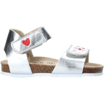 Boty Dívčí Sandály Grunland SB1546 Stříbrný