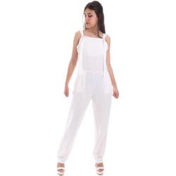 Textil Ženy Overaly / Kalhoty s laclem Gaudi 011BD25049 Bílý