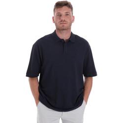 Textil Muži Polo s krátkými rukávy Les Copains 9U9016 Modrý