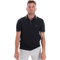 Textil Muži Polo s krátkými rukávy Les Copains 9U9021 Modrý