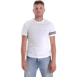 Textil Muži Trička s krátkým rukávem Les Copains 9U9014 Bílý