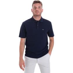 Textil Muži Polo s krátkými rukávy Les Copains 9U9023 Modrý