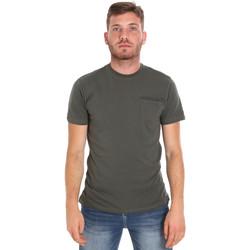 Textil Muži Trička s krátkým rukávem Les Copains 9U9010 Zelený