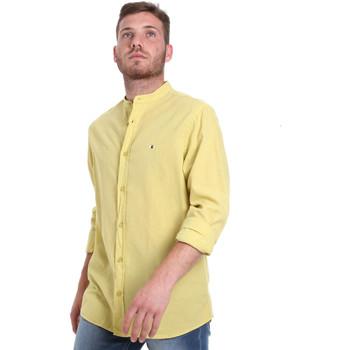 Textil Muži Košile s dlouhymi rukávy Les Copains 9U2722 Zelený