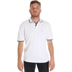 Textil Muži Polo s krátkými rukávy Les Copains 9U9020 Bílý