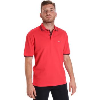 Textil Muži Polo s krátkými rukávy Les Copains 9U9020 Červené