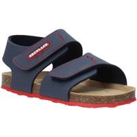 Boty Děti Sandály Grunland SB0802 Modrý