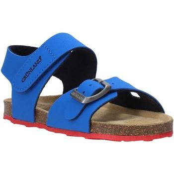 Boty Děti Sandály Grunland SB0372 Modrý