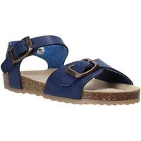 Boty Děti Sandály Grunland SB1551 Modrý