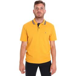 Textil Muži Polo s krátkými rukávy Les Copains 9U9021 Žlutá