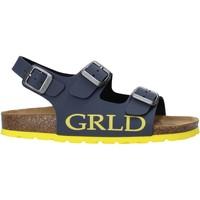 Boty Děti Sandály Grunland SB1516 Modrý