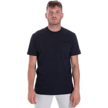 Textil Muži Trička s krátkým rukávem Les Copains 9U9010 Modrý