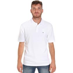 Textil Muži Polo s krátkými rukávy Les Copains 9U9015 Bílý