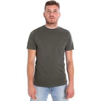 Textil Muži Trička s krátkým rukávem Les Copains 9U9013 Zelený