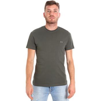 Textil Muži Trička s krátkým rukávem Les Copains 9U9011 Zelený