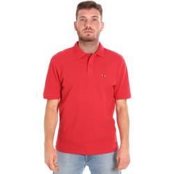 Textil Muži Polo s krátkými rukávy Les Copains 9U9015 Červené